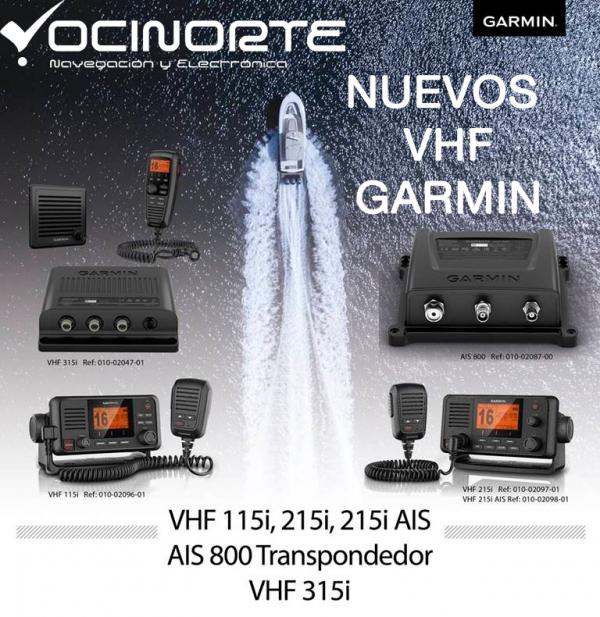 GARMIN nuevos VHF con GPS integrado y nuevo AIS 800